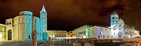 Zadar cityscape at night, Dalmatia, Croatia Stock Photo