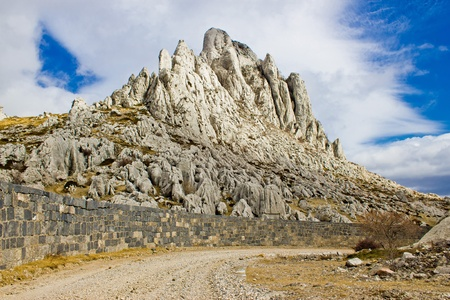 Tulove grede rocks on Velebit mountain, Croatia photo