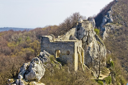 kalnik: Kalnik mountain fortress on cliff, Croatia Stock Photo