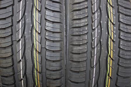Pair of new summer black car tires - grip Stock Photo - 13323069