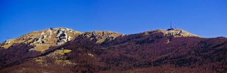 Licka Plesevica mountain peak panorama on Croatia and Bosnia Herzegovina border photo