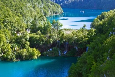 Národní park Plitvická jezera vodopád, Plitvica, chorvatsko Reklamní fotografie - 14410262