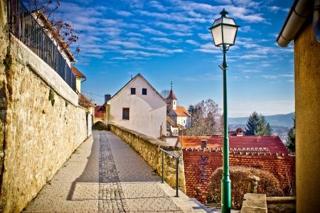 Town of Varazdinske toplice walkway, Zaorje region, Croatia Reklamní fotografie