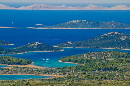 Kornati national park paradise islands, archipelago in Dalmatia, Croatia photo