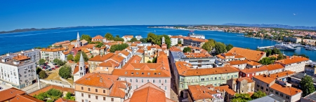 Town of Zadar peninsula panoramic view, Dalmatia, Croatia Standard-Bild