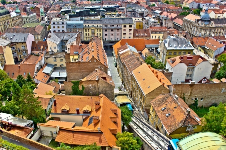 Capital of Croatia, City of Zagreb - historic lower town architecture & rooftops