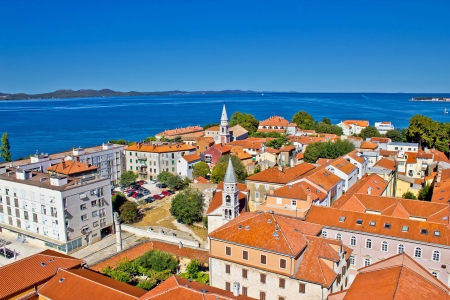 Colorful city of Zadar rooftops & towers, Dalmatia, Croatia