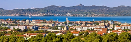 Dalmatian city of Zadar panoramic view with Island of Ugljan, Croatia, Dalmatia Stock Photo