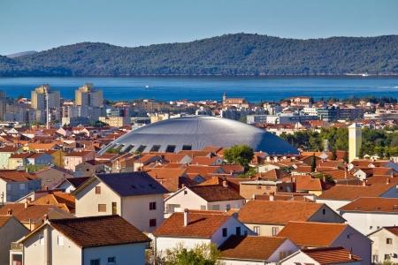Coupola hall landmark in adriatic City of Zadar, Dalmatia, Croatia