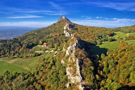 kalnik: Green scenery of Kalnik mountain ridge, Prigorje, Croatia