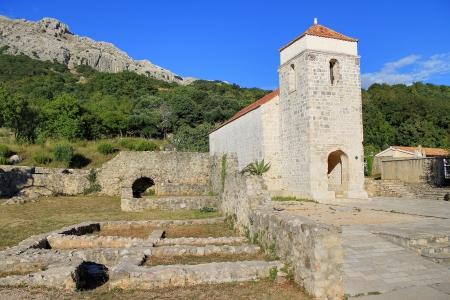 Old church historic site in Jurndvor near Baska, Island of Krk, Croatia Stock Photo - 16514271