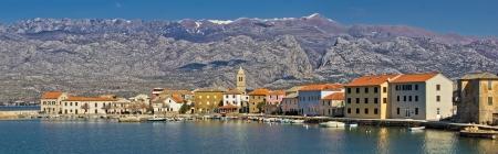 paklenica: Town of Vinjerac in front of Paklenica National park, Dalmatia, Croatia - panoramic view