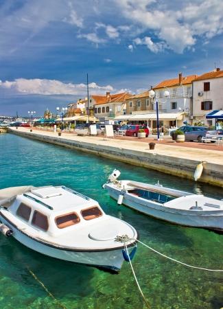 na: Adriatic town of Biograd na moru colorful waterfront and harbor