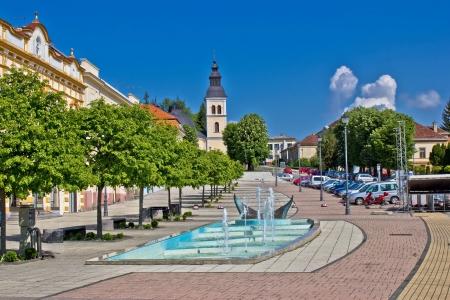 Town of Daruvar colorful main square, Croatia photo