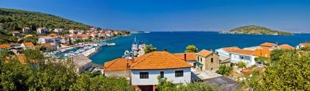 Island of Ugljan, Town of Kali waterfront colorful panorama
