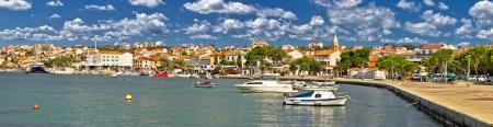 Town of Novalja, Pag islang, Croatia - colorful panorama photo