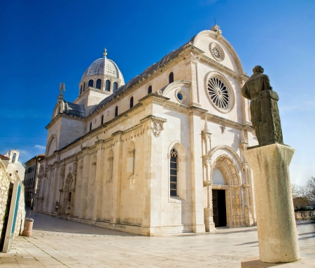 Saint James cathedral in Sibenik -  site, Dalmatia, Croatia Reklamní fotografie - 18782042