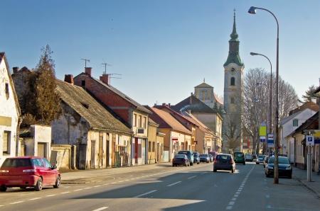 Town of Virovitica street view, Podravina, Croatia Reklamní fotografie