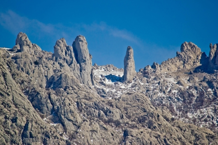 Velebit mountain national park stone sculptures, Dalmatia, Croatia photo