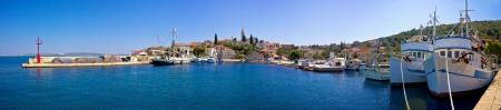 Fishermen harbor in town of Kali, Island of Ugljan, Croatia