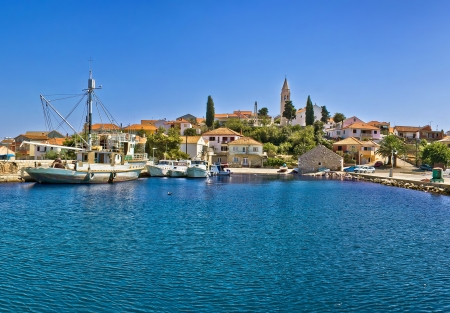 Town of Kali waterfront, Island of Ugljan, Dalmatia, Croatia