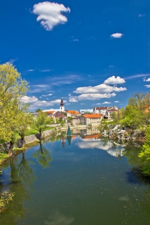 Town of Gospic on Lika river, Croatia  Stock Photo