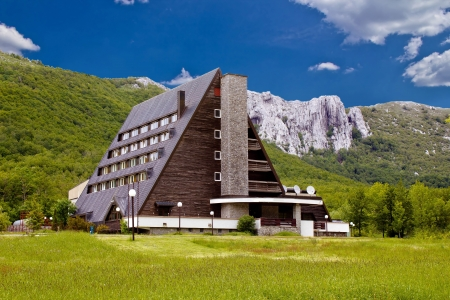 Velebit mountain lodge in Springtime, Lika, Croatia