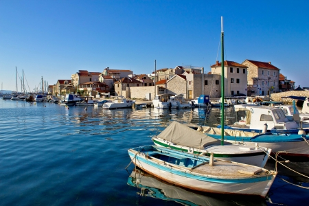 Adriatic town of Tribunj waterfront, Dalmatia, Croatia Standard-Bild