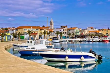 Town of Pakostane waterfront, in Dalmatia, Croatia