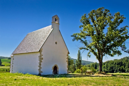 kalnik: Old stone church on Kalnik mountain, Prigorje region, Croatia