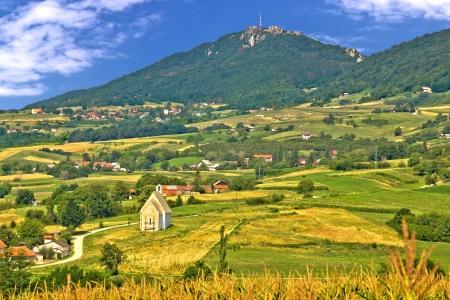 kalnik: Kalnik mountain green hills scenery, Prigorje region, Croatia