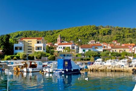 Town of Preko waterfront on Ugljan island, Dalmatia, Croatia