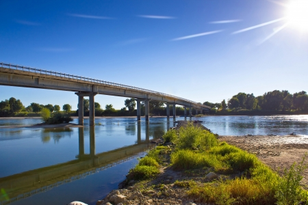 drava: Drava river bridge in Podravina, Croatia
