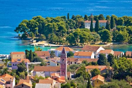 Beautiful coast of Croatia - Ugljan island in Dalmatia, Town of Preko
