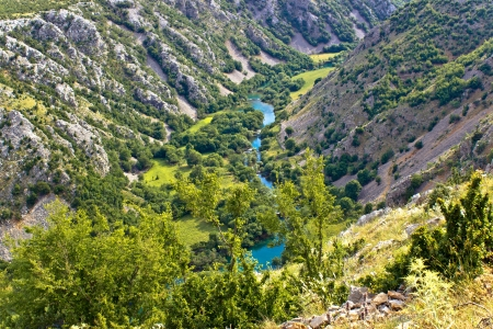 Grand canyon of Krupa river in karst region of Croatia photo