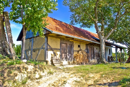 kalnik: Traditional cottage made of wood and mud in Croatia, region of Prigorje