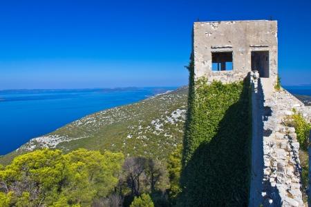 St. Michael Fort on Island of Ugljan top, Dalmatia, Croatia Stock Photo - 23324838
