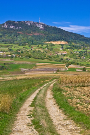 kalnik: Idyllic landscape of Kalnik mountain, Croatia Stock Photo