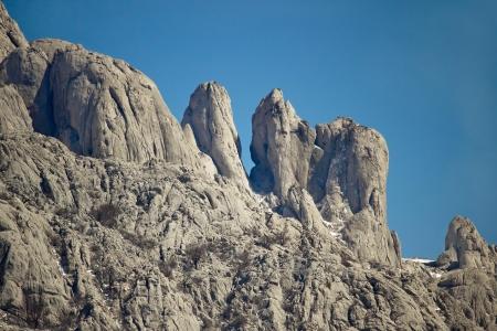 Stone sculptures of Velebit mountain, Croatia photo