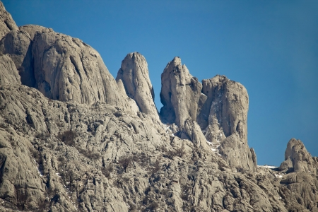 Stone sculptures of Velebit mountain, Croatia photo
