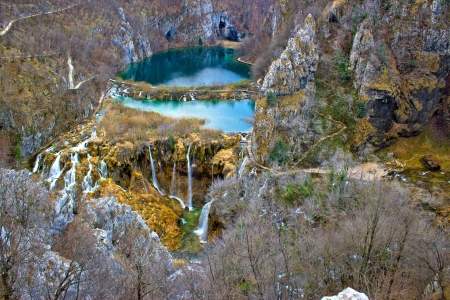 Falling lakes of Plitvice national park in Croatia