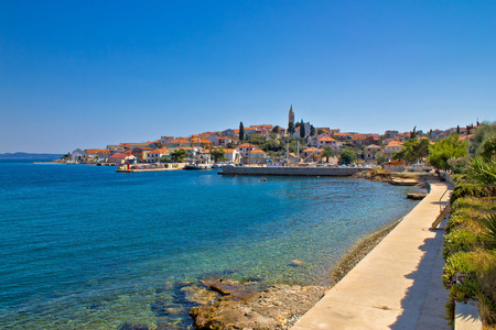 Coastal town of Kali skyline, Island of Ugljan, Dalmatia, Croatia Stock Photo