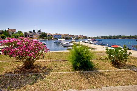 Adriatic town of Petrcane waterfront, Dalmatia, Croatia photo