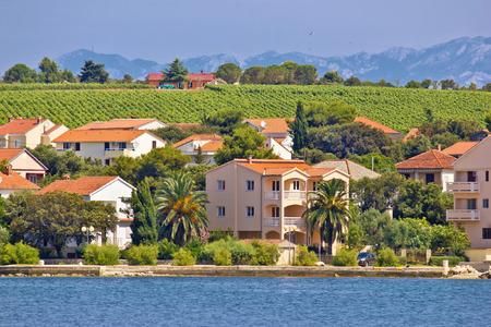 seafront: Coastal village of Petrcane in Dalmatia, Croatia