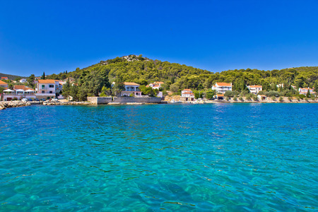 Island of Ugljan turquoise coast, Dalmatia, Croatia Stock Photo