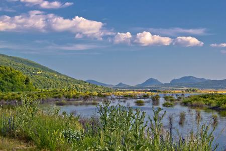 Field of Krbava in Lika region od Croatia photo