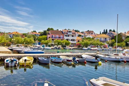 Colorful tourist town of Petrcane in Dalmatia, Croatia