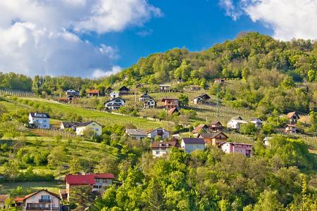 Zagorje hills vineyards and cottages, Krapina, Croatia