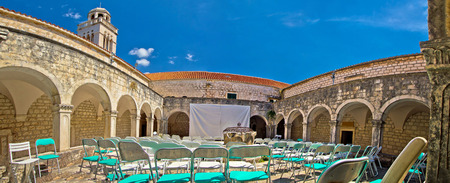 dalmatia: Franciscian monastery in Hvar panoramic view, Dalmatia, Croatia Editorial