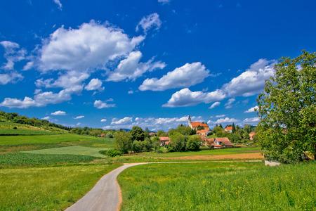 kalnik: Idyllic village in green nature, Glogovnica, Croatia Stock Photo
